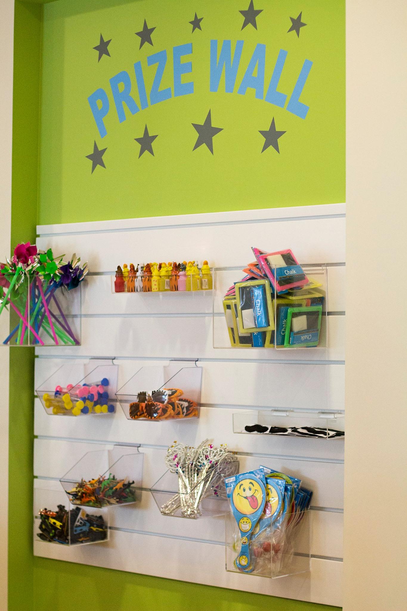 Prize Wall VIlla Rica Pediatric Dentist